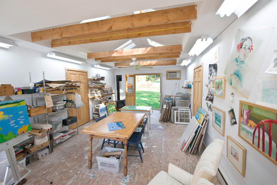 Home Art Studio Other Ways to Use Your Garage Door Tech